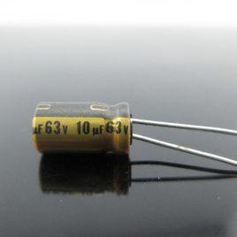 Condensador radial 10uf 63v Nichicon