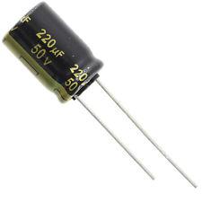 Condensador radial 220uf 50v Nichicon
