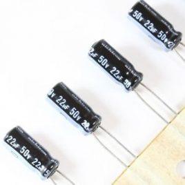 Condensador radial 22uf 50v Nichicon