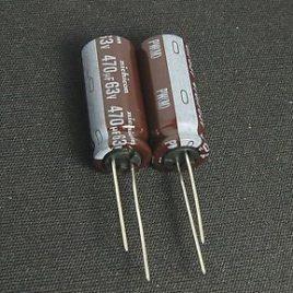 Condensador radial 470uf 63v Nichicon