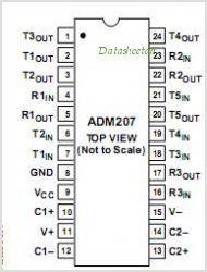 ADM207ARSZ  SMD  IC