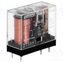 G2R-1-DC24V POWER RELAY SPDT 10A OMRON