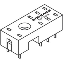 8-1393234-5 Zocalo Pin 8 SCHRACK p/rele 8 pin